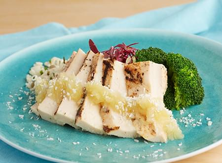 top chef meals low carb Grilled Chicken with Coconut Pineapple Sauce