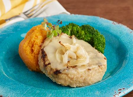 Low Carb Open Faced Turkey Burger
