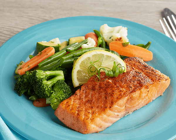 Low Carb Seared Salmon Filet