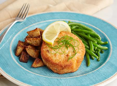 Top Chef Meals Seared Salmon Cake