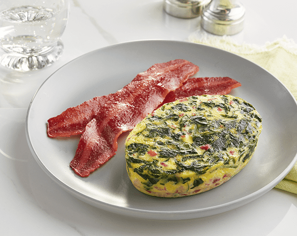 Low Carb Spinach and Prosciutto Frittata