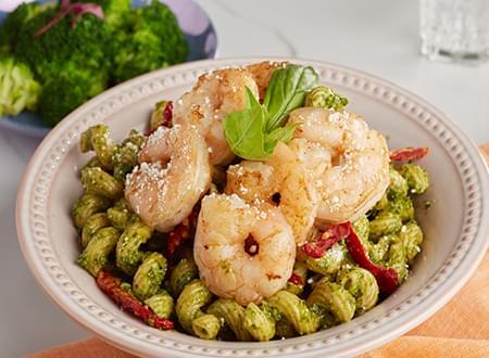Best Tuscan Shrimp with Cavatappi Pasta
