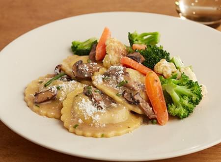 Vegetarian Low Carb Wild Mushroom Marsala Ravioli