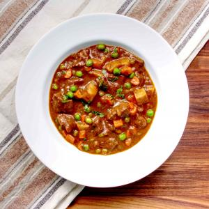 American Beef Stew with Potatoes, Peas and Carrots