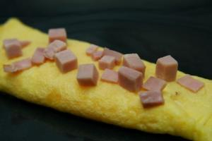 Ham & Egg Omelet (P) with Turkey Bacon (P)