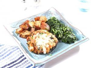 Vegetable Stuffed Portabella Mushroom
