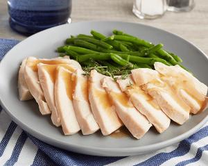 KETO: Sliced Roast Turkey Breast with Bacon
