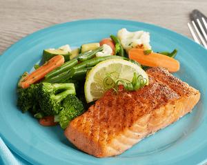 KETO: Dijon Salmon with California Blend