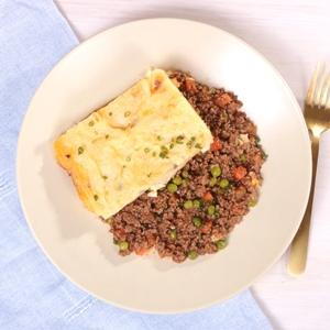 Shepherd's Pie with Cheddar Mashed Potato Crust