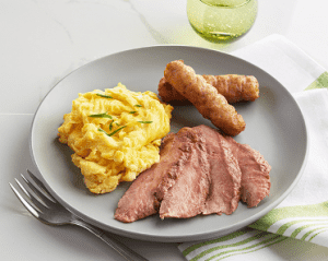 Sliced Flank Steak & Eggs (P)
