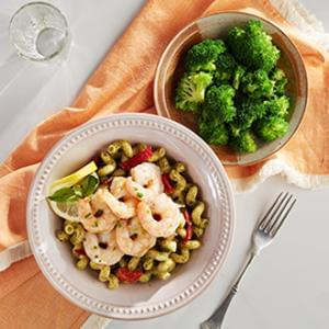 Tuscan Shrimp with Cavatappi Pasta