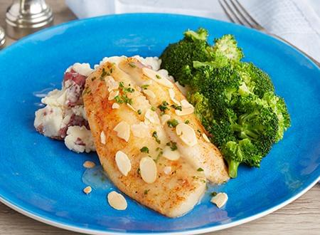 Keto Friendly Flounder Almondine