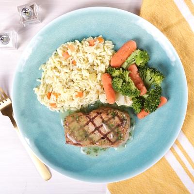 Grilled Boneless Pork Chop
