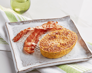 Chorizo Sausage and Egg Frittata (P) with Pork Bacon (P)