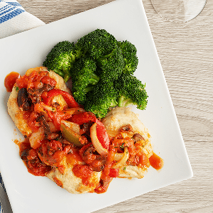 Chicken Cacciatore (P) with Broccoli (P)
