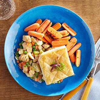 Chicken Pot Pie  with PART OF ENTREE with Carrots