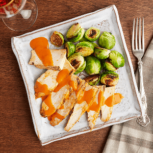 Grilled Buffalo Chicken (P) with Brussel Sprouts (P)