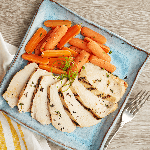 Au Jus Chicken (P) with Carrots (P)