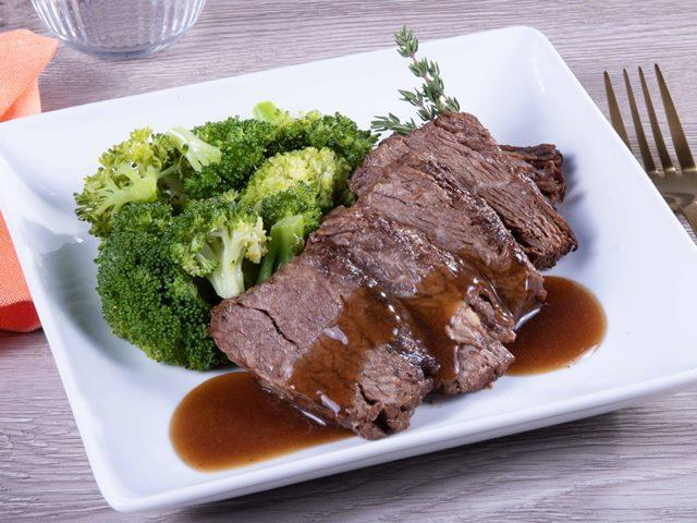 Keto: Beef Short Rib with Bordelaise Sauce with Broccoli