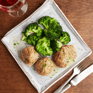 Lemon Ginger Turkey Meatballs (P) with Broccoli (P)