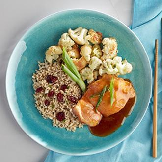 Mandarin Orange Chicken with Citrus Quinoa with Asian Blend