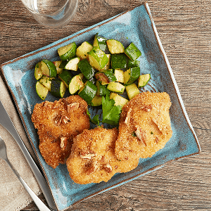 Pecan Crusted Chicken (P) with Zucchini (P)