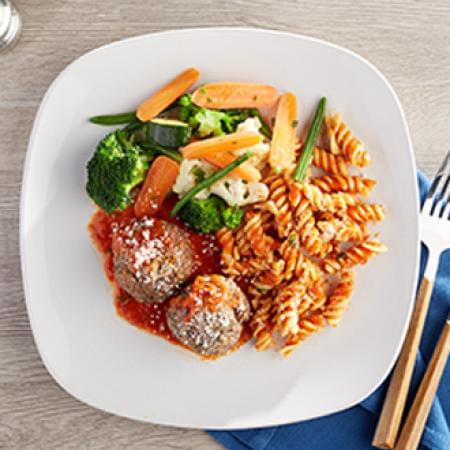Meatballs Marinara with Rotini Pasta with California Blend