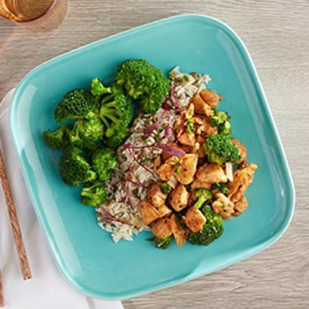 Chicken and Broccoli with Herb Lentil Rice with Broccoli