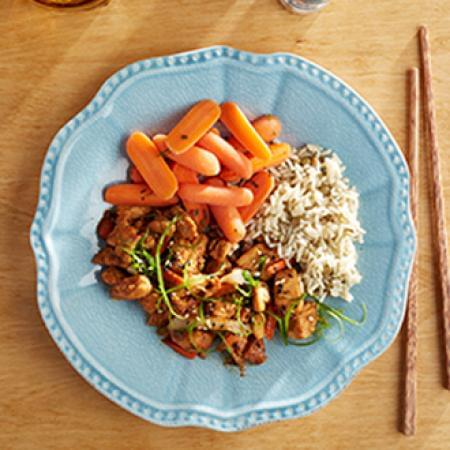Chicken Teriyaki with Herb Lentil Rice with Carrots