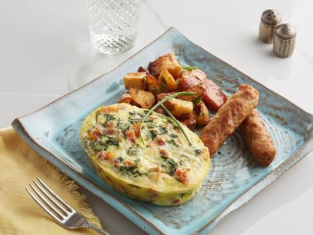 Spinach Egg and Bacon Frittata